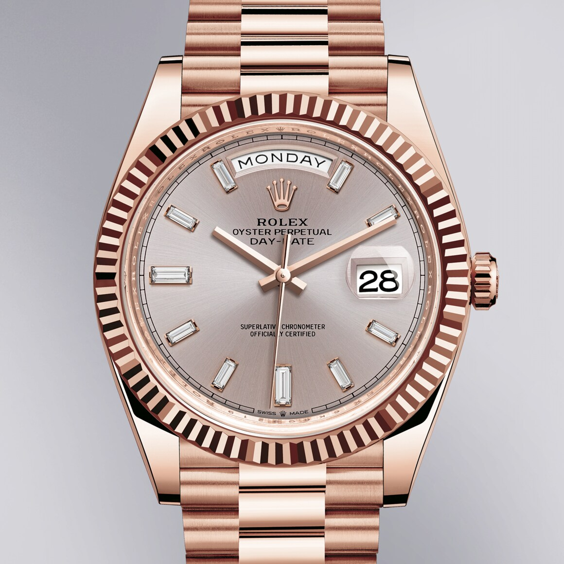 Rolex Oyster Perpetual Day-Date 40 In 18 ct Everose Gold - Kee Hing Hung