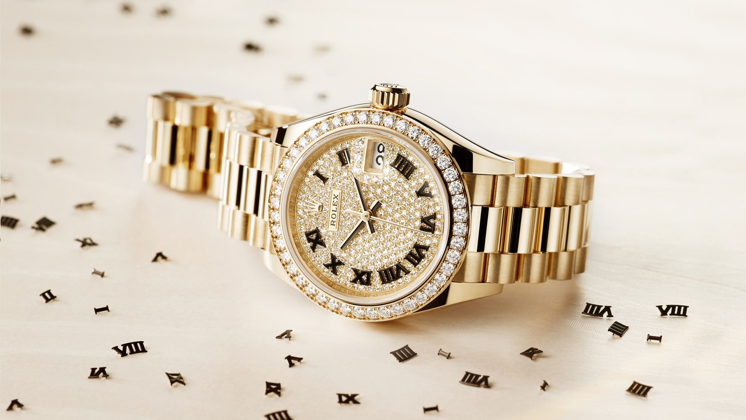 Rolex Oyster Perpetual Lady-Datejust in 18 ct yellow gold with diamonds - Kee Hing Hung